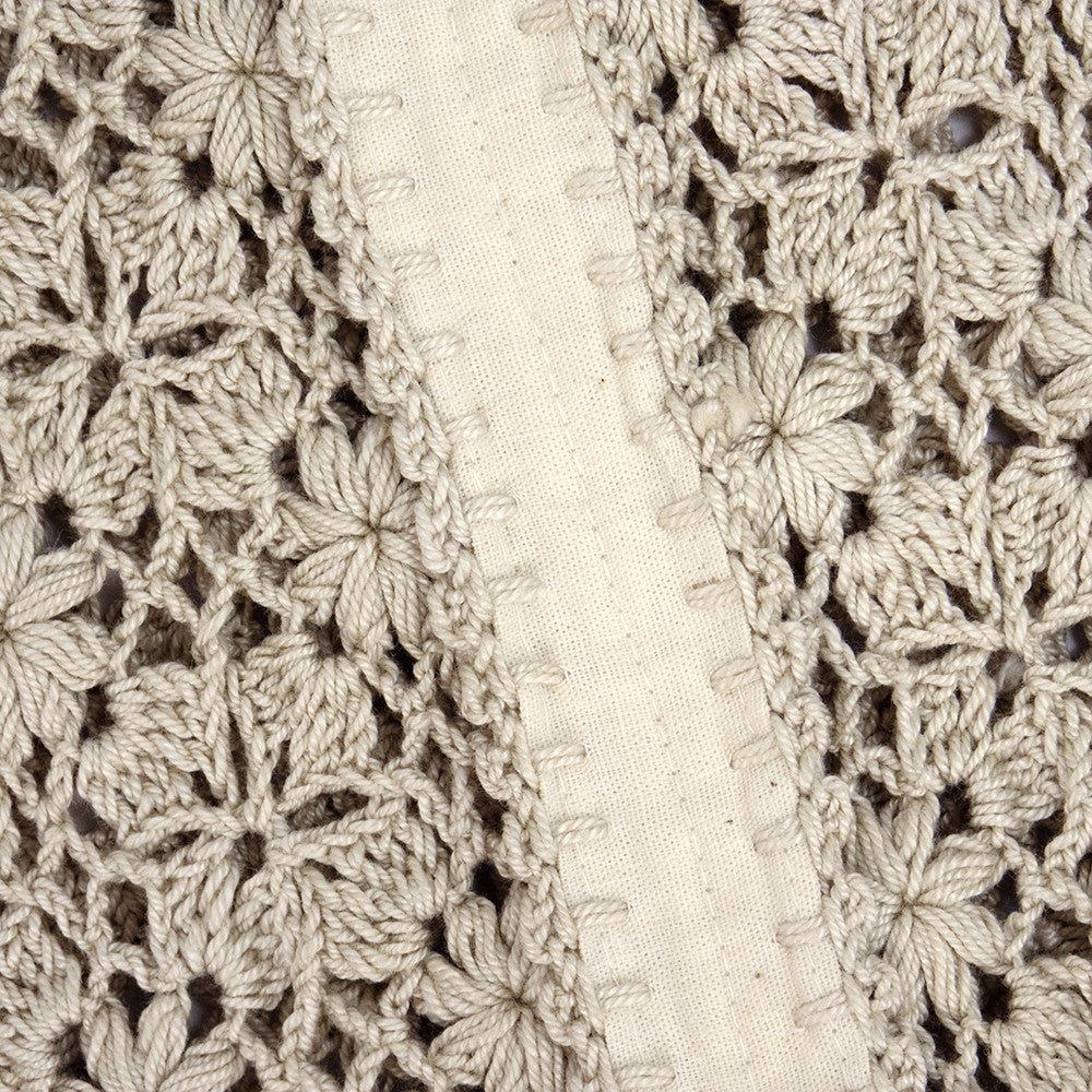 Vintage 70s Hippie Crochet Peasant Dress, detail 1