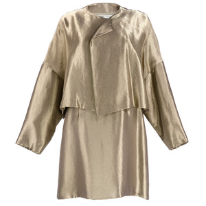 Vintage GENNY 90s Gold Metallic Cocktail Ensemble