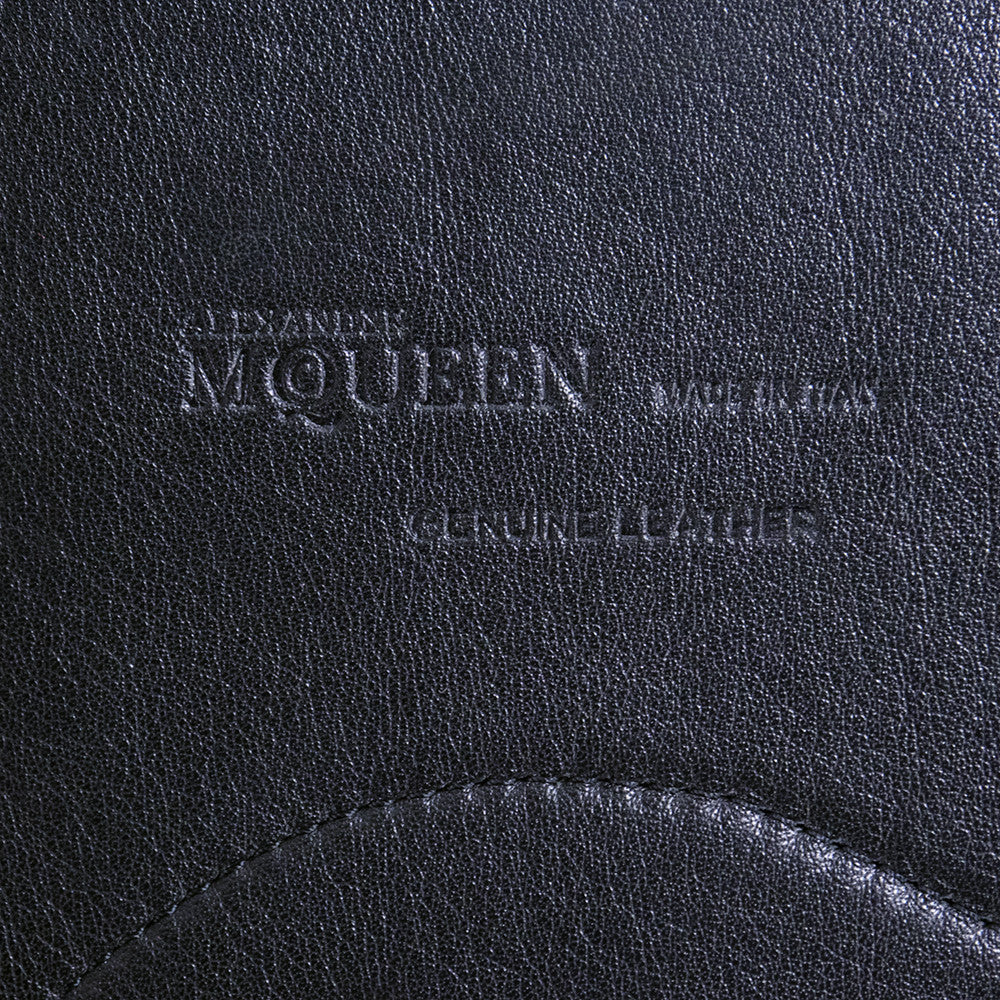 MCQUEEN Black Leather Harness, label