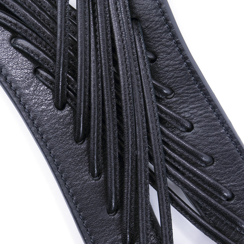 MCQUEEN Black Leather Harness, detail