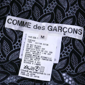 Vintage COMME DES GARCONS 90s Black & Grey Eyelet Ensemble, label