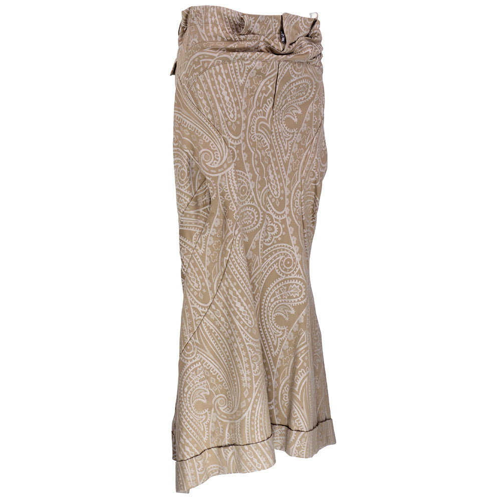 COMME DES GARCONS Taupe Paisley Jacquard Skirt, side