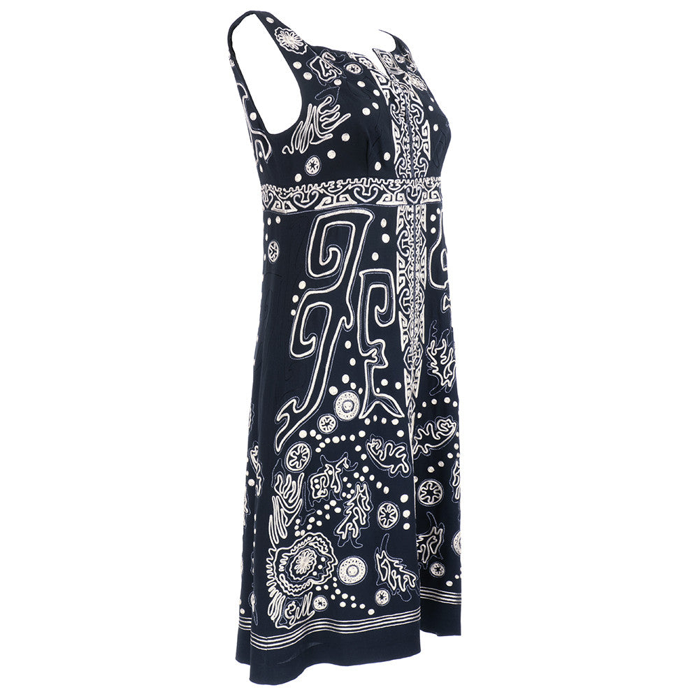 LACROIX Black Embroidered Dress, side