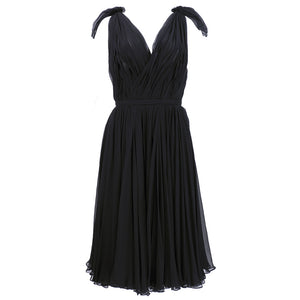 ALEXANDER MCQUEEN Black Swan Chiffon Cocktail Dress