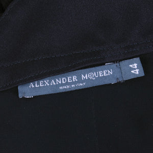 ALEXANDER MCQUEEN Black Swan Chiffon Cocktail Dress, label