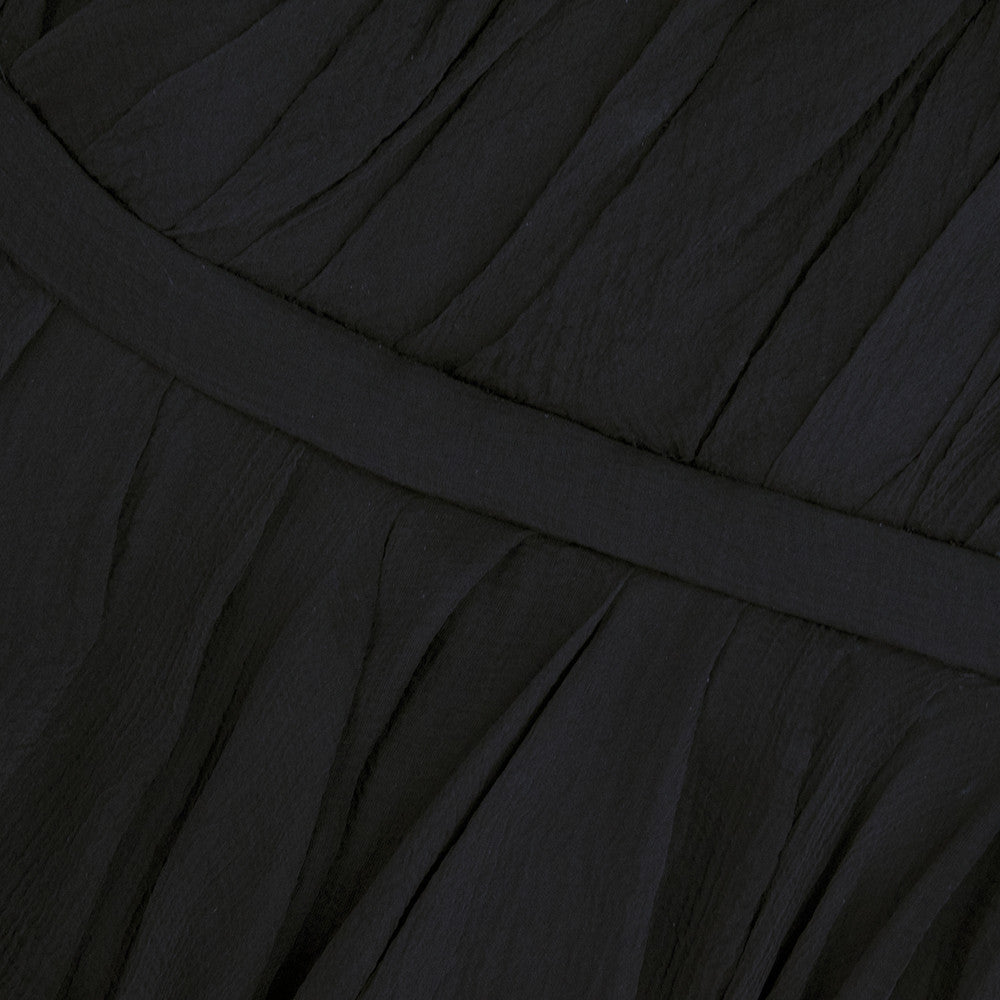 ALEXANDER MCQUEEN Black Swan Chiffon Cocktail Dress, detail 1