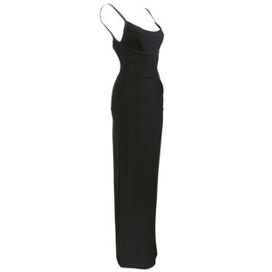 Vintage LEGER 90s Classic Black Bandage Gown, side