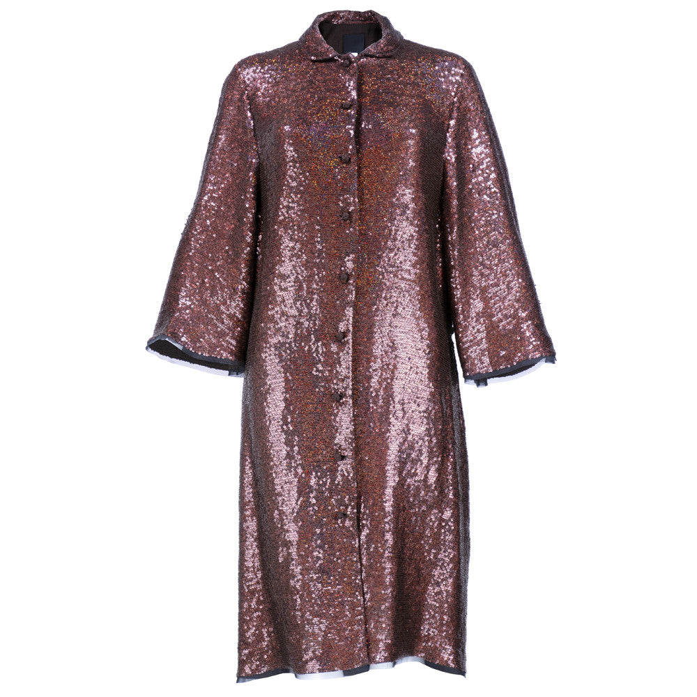 RUCCI Couture Sequin Evening Coatdress
