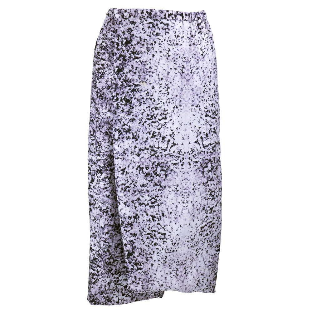 MIYAKE Three-Piece Abstract Printed Ensemble, skirt