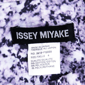 MIYAKE Three-Piece Abstract Printed Ensemble, ensemble label