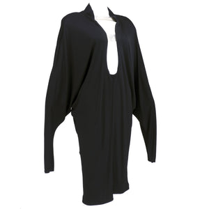 Vintage MUGLER 90s Matte Jersey Modernist Dress, side