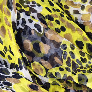 Vintage BLASS 90s Animal-Print Goddess Gown, detail 3