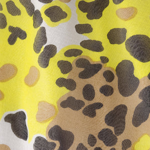Vintage BLASS 90s Animal-Print Goddess Gown, detail 2