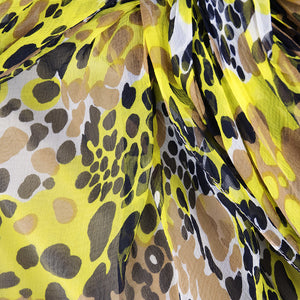 Vintage BLASS 90s Animal-Print Goddess Gown, detail 1