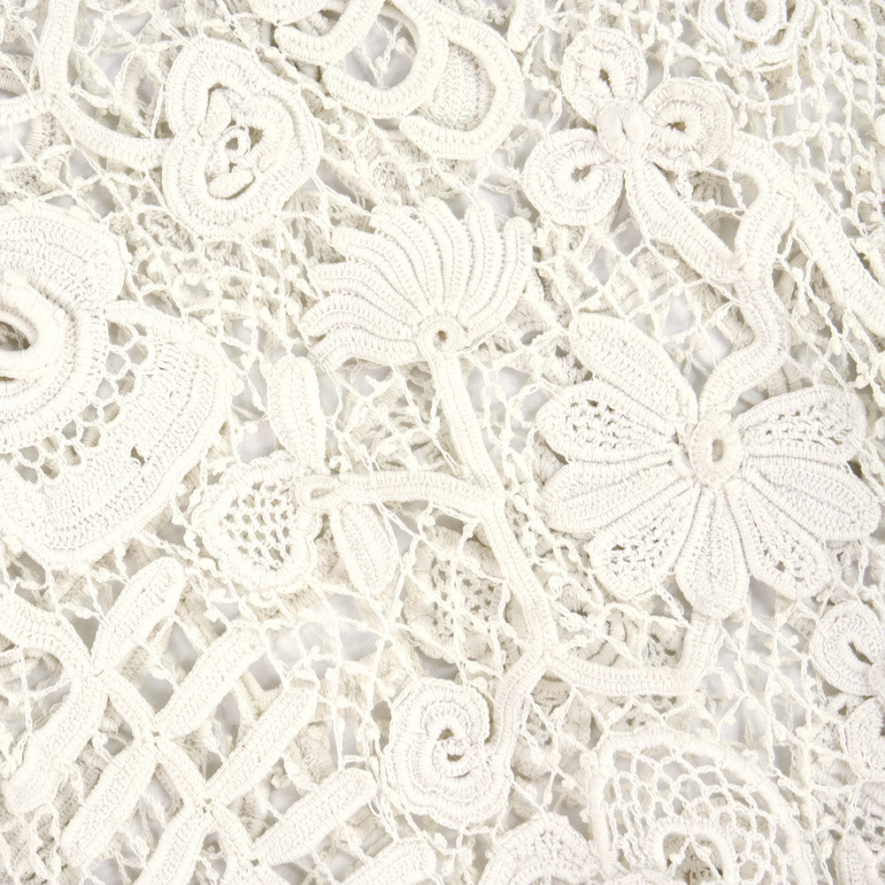 Vintage Edwardian Hand-Made White Irish Crochet Jacket, detail 2