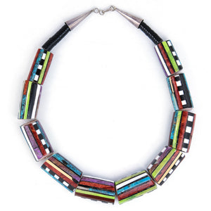 Contemporary Santo Domingo Multi-Stoned Collar