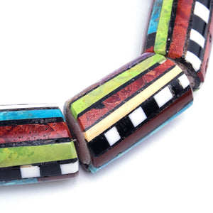 Contemporary Santo Domingo Multi-Stoned Collar, detail 1