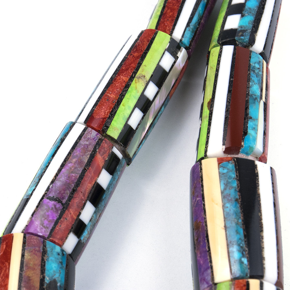 Contemporary Santo Domingo Multi-Stoned Collar, detail 2