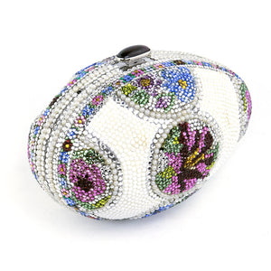 LEIBER Faberge Egg-Style Evening Bag Minaudiere, side