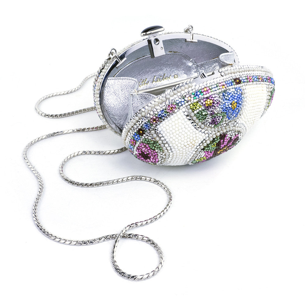 LEIBER Faberge Egg-Style Evening Bag Minaudiere, open