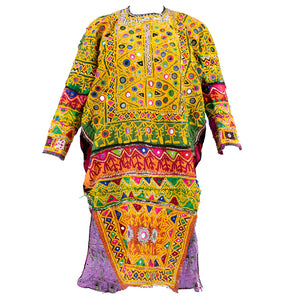 Banjara Indian Embroidered Multi-Color Patchwork Tunic