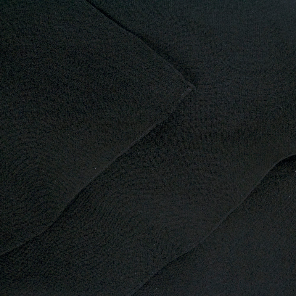 Vintage GALANOS 70s Black Wool & Chiffon Gown, detail 1
