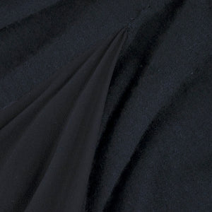 Vintage GALANOS 70s Black Wool & Chiffon Gown, detail 2