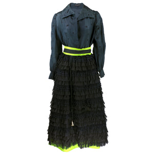 Vintage CAPUCCI 60s Black & Green Evening Ensemble