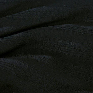 Galanos Black Silk Striped Blouse  detail 2
