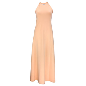 Vintage HALSTON 70s Peach Evening Ensemble, dress