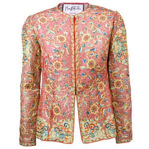 Vintage MCFADDEN 80s Embroidered Silk Evening Jacket
