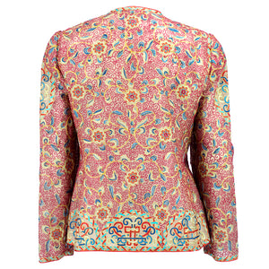 Vintage MCFADDEN 80s Embroidered Silk Evening Jacket, back