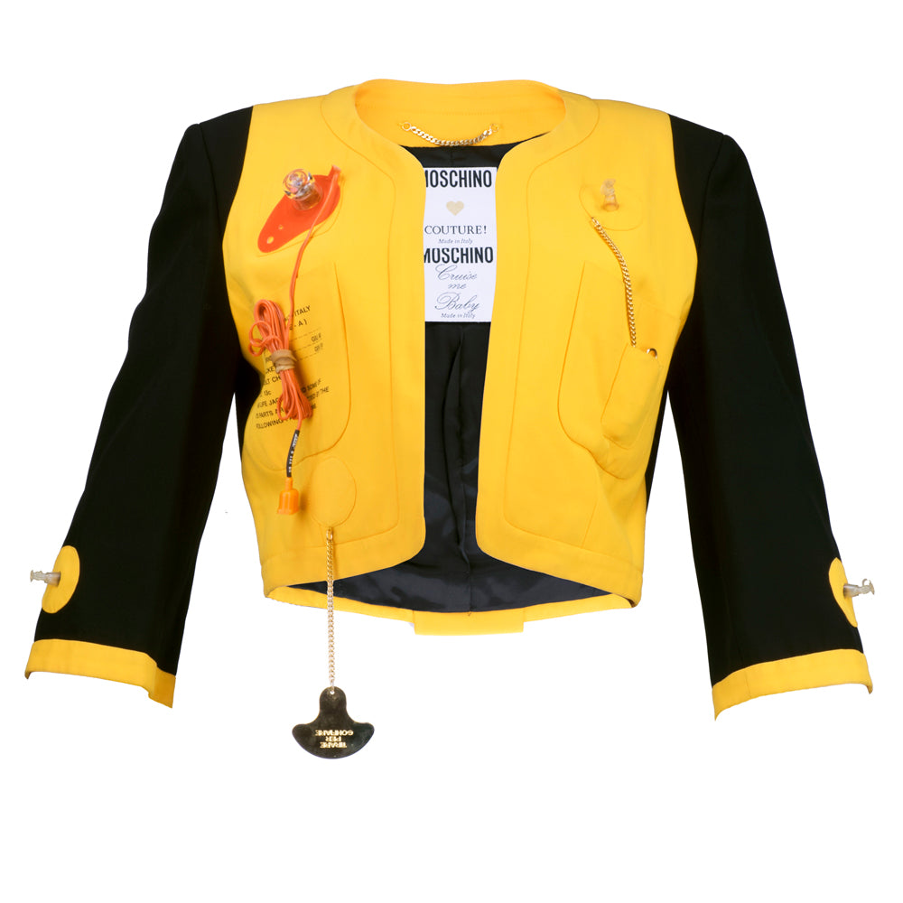 "Vintage MOSCHINO 80s ""Cruise Me Baby"" Life Preserver Jacket"