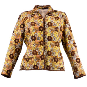 Vintage 20s Floral Hand-Embroidered Jacket