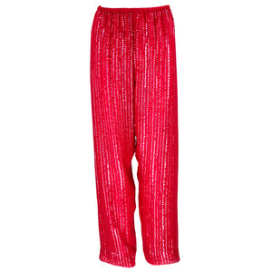 Vintage HALSTON 70s Candy Apple Red Disco Ensemble, pants