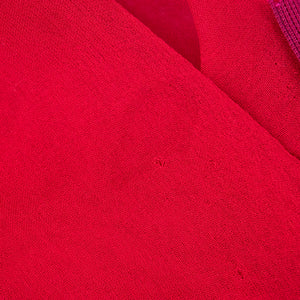 Vintage HALSTON 70s Candy Apple Red Disco Ensemble, detail 5