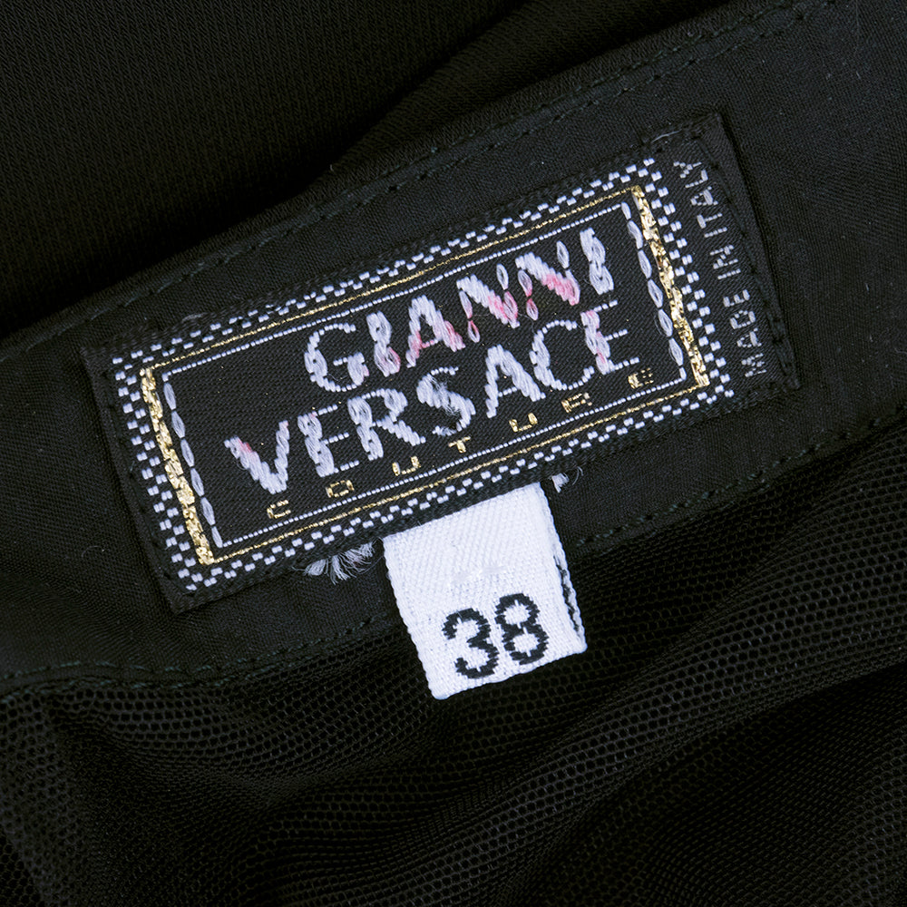 Vintage VERSACE 90s Diamante Strap Cocktail Dress, label