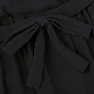 Vintage DIOR 60s Black Chiffon & Satin Cocktail Dress, detail 1