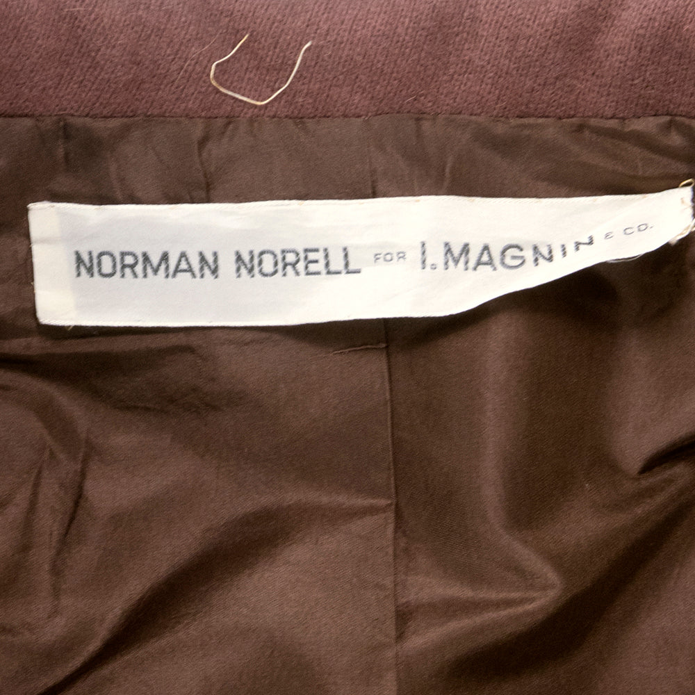Vintage NORELL 60s Mocha Wool Car Coat, label