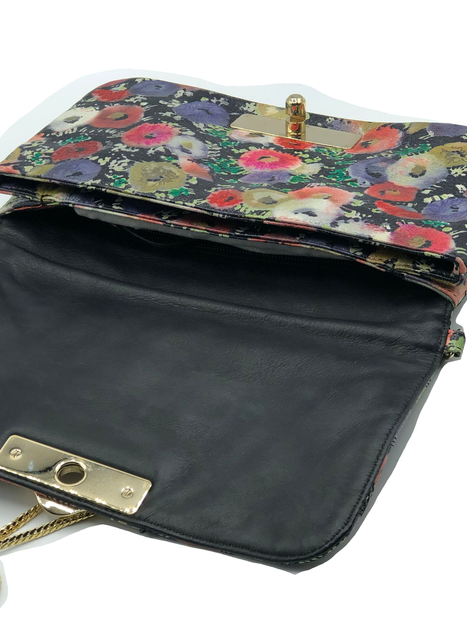 Bally Leather Quilted Floral Shoulder Bag OPEN 3 of 5