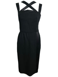 Givenchy Tuxedo Style Cocktail Dress FRONT 1 of 5