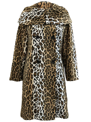 Moschino 90s Faux Leopard Coat FRONT 1 of 4