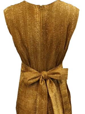 Georgia Keyloun 60s Gold Lurex Palazzo Jumpsuit, back detail