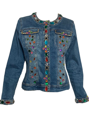 90s Bedazzled Denim Jacket  FRONT 1 of 6