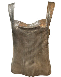 Paco Rabanne Chrome Metal Mesh Tank Top Front 1 of 5