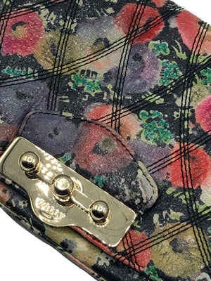 Bally Leather Quilted Floral Shoulder Bag CLASP 4 of 5