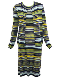 Missoni 2000s Knit Striped Dress Ensemble ENSEMBLE FRONT 1 of 9