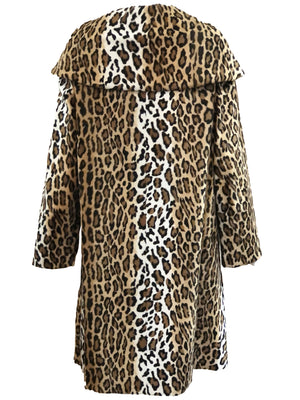 Moschino 90s Faux Leopard Coat BACK 2 of 4
