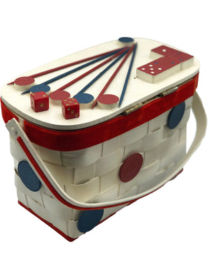 50s Basket Purse with Gambling Theme  BACK 2 of 4