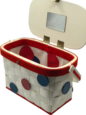 50s Basket Purse with Gambling Theme  OPEN 3 of 4